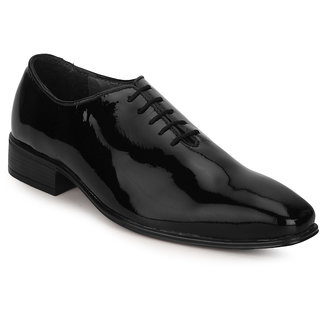 Escaro Men's Black Lace-up Oxfords Shoe