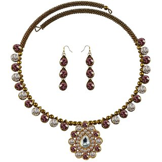 Vidhya Kangan Multicolor Necklace Set For Women-nec1942
