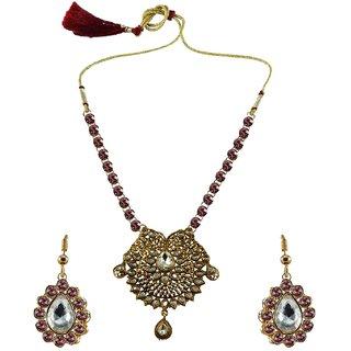 Vidhya Kangan Multicolor Necklace Set For Women-nec2547