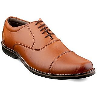 Escaro Men's Tan Lace-up Smart Formals Shoe