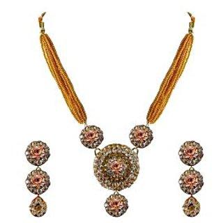 Vidhya Kangan Multicolor Necklace Set For Women-nec1157