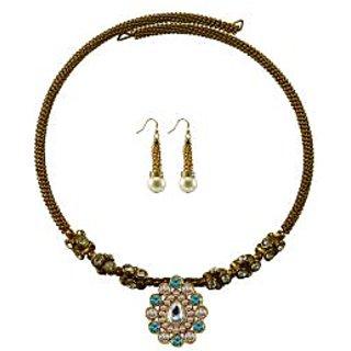 Vidhya Kangan Gold Necklace Set For Women-nec1880