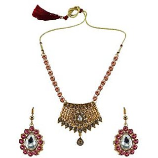 Vidhya Kangan Multicolor Necklace Set For Women-nec2566