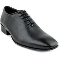 Escaro Men's Black Lace-up Smart Formals Shoe