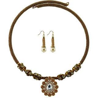Vidhya Kangan Gold Necklace Set For Women-nec1889
