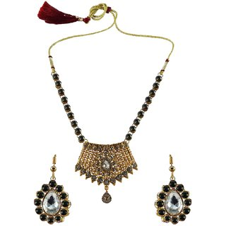 Vidhya Kangan Multicolor Necklace Set For Women-nec2575