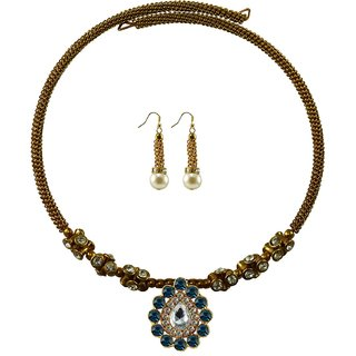 Vidhya Kangan Gold Necklace Set For Women-nec1894