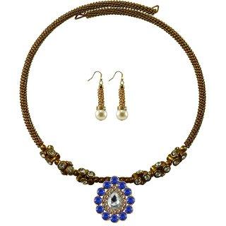 Vidhya Kangan Gold Necklace Set For Women-nec1898