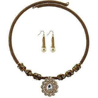 Vidhya Kangan Gold Necklace Set For Women-nec1901