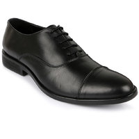 Escaro Men's Black Lace-up Smart Formals Shoe - 104364057