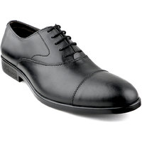Escaro Men's Black Lace-up Smart Formals Shoe - 104363715