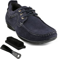 Escaro Men's Blue Lace-up Sneakers Shoes