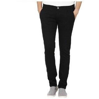 ibs solid non-strechable Denim  Men Slim Jeans black Men's  Bottom