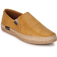 Escaro Men's Black,Yellow Slip On Sneakers Shoes