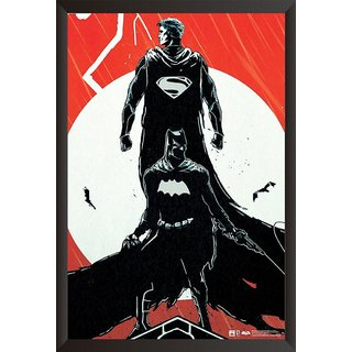 Hungover Batman Vs Superman Comic Poster Official Artwork Special Paper Poster (12x18 inches) With Frame