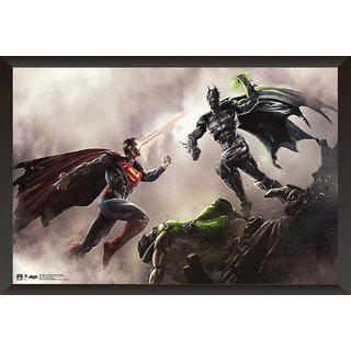 Hungover Batman Vs Superman Dawn Of Justice Poster Special Paper Poster (12x18 inches) With Frame