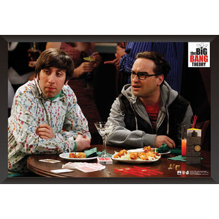 Hungover The Big Bang Theory: Howard And Leonard Special Paper Poster (12x18 inches) With Frame