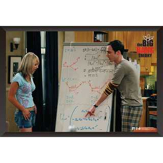 Hungover The Big Bang Theory: Penny And Sheldon Special Paper Poster (12x18 inches) With Frame