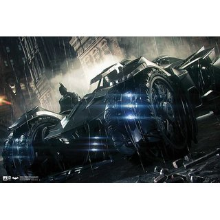 Hungover Batmobile Arkham Knight Artwork Special Paper Poster (12x18 inches)  Without Frame