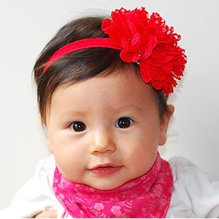 Flower Headbands Baby Headbands Kids Hair Accessories Flower Hair Bands  White Red Hairbands Girls Hair Accessories Baby 3f1206956db