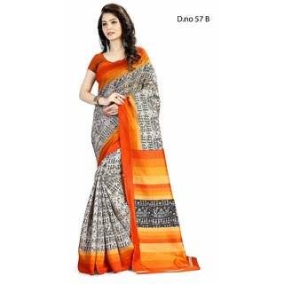 26d0e38466ad6 Buy Ruchika Fashion Multicolor Printed Cotton Saree With Blouse Online -  Get 82% Off