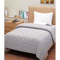 Hard Rock Pack Of 2 Single Bed Flower Design Top Sheet-brown