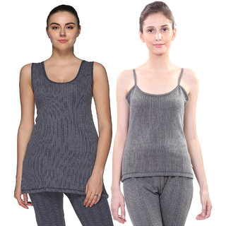 7bb5e03ac0166a Buy Vimal-Jonney Multcolor Cotton Blended Thermal Top For Women (Pack Of 2)  Online - Get 18% Off