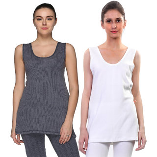 Vimal-Jonney Multcolor Cotton Blended Thermal Top For Women (Pack Of 2)
