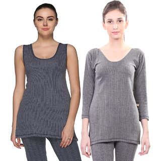 Vimal Multcolor Cotton Blended Thermal Top For Women (Pack Of 2)