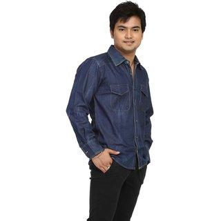 Fast N Fashion Beautiful Blue Mens Denim Shirt