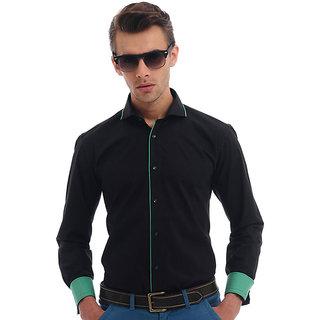 Cairon Sharp Green Solid Clubwear Shirt