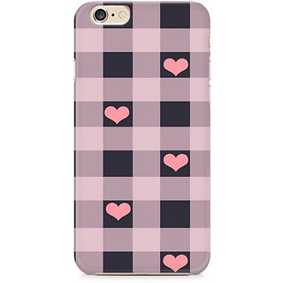 Zenith Checksy Hearts Premium Printed Cover For Apple iPhone 6 Plus/6s Plus
