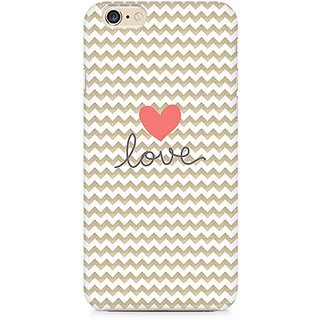 Zenith Golden Chevron Love Premium Printed Mobile cover For Apple iPhone 6/6s