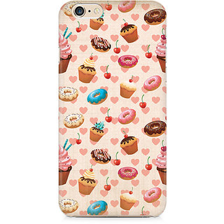 Zenith Heart and Cakes Premium Printed Cover For Apple iPhone 6 Plus/6s Plus