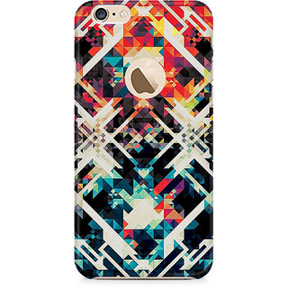 Zenith Two Square Abstract Premium Printed Mobile cover For Apple iPhone 6/6s with hole