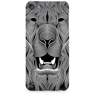 Zenith Wavy Lion Premium Printed Mobile cover For Apple iPod Touch 6