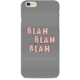 Zenith Blah Blah Classy Premium Printed Mobile cover For Apple iPhone 6/6s