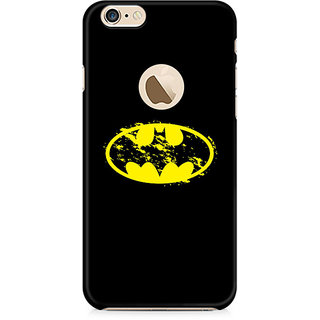 Zenith Flourished Yellow Batman Premium Printed Mobile cover For Apple iPhone 6/6s with hole