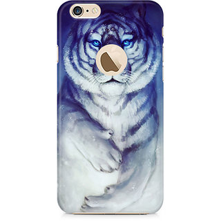 Zenith White Tiger Premium Printed Mobile cover For Apple iPhone 6/6s with hole