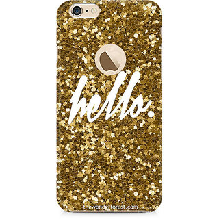 Zenith Golden Hello Premium Printed Mobile cover For Apple iPhone 6/6s with hole