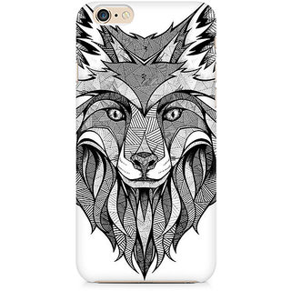 Zenith Line Art Wolf Premium Printed Mobile cover For Apple iPhone 6/6s