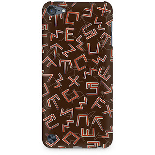 Zenith Tribal Alphabets Premium Printed Mobile cover For Apple iPod Touch 5