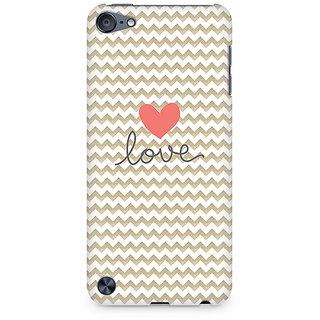 Zenith Golden Chevron Love Premium Printed Mobile cover For Apple iPod Touch 5