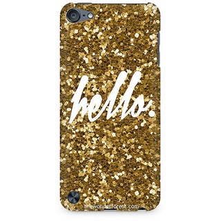 Zenith Golden Hello Premium Printed Mobile cover For Apple iPod Touch 5