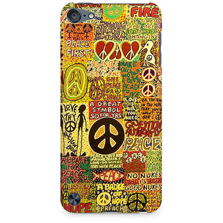 Zenith Hippy Peace Premium Printed Mobile cover For Apple iPod Touch 5