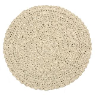 Saral Home Soft Cotton Round Crochet Mat -80x80 cm