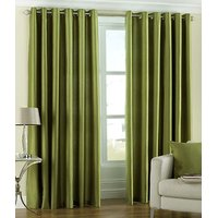 Hard Rock Pack Of 2 Green Plain Eyelet Door Curtain