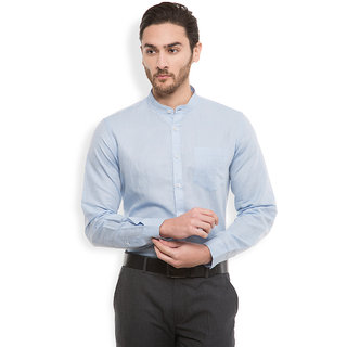 Black Coffee Blue Full sleeves Casual Shirt For Men