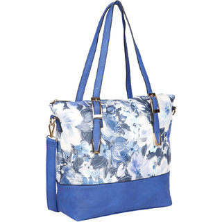 Bagkok Blue Printed Party Handbag