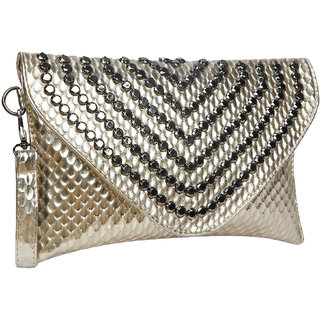 Bagkok Gold Self Design Casual Sling Bag